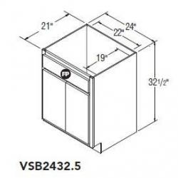 VSB2432.5 5JW BRELLIN PURESTYLE WHITE