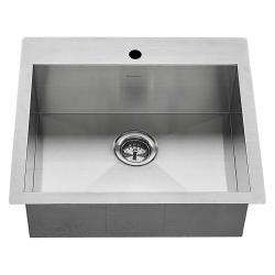 "18SB.9252211.075 EDGEWATER 25"" DUAL MOUNT SINK W/BOTTM GRID AND STRAINER BASKET"