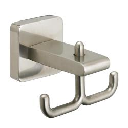 8335210.295 CS SERIES DOUBLE ROBE HOOK BRUSHED NICKEL