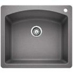 440209 METALLIC GREY DUAL MOUNT SINGLE BOWL 25X22 SINK