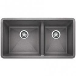 441130 METALLIC GRAY PRECIS DBL BWL UNDERMOUNT