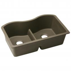 ELGULB3322MC 33 X 20 X 9-1/2 DOUBLE BOWL UNDERMOUNT SINK WITH AQUA DIVIDE