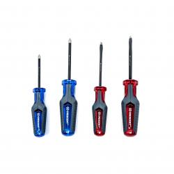 CGS4PCSET 4PC PHILLIPS/SLOTTED CO-MOLDED DIAMOND TIP SCREWDRIVER SET