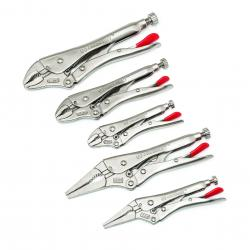 CLP5SETN 5 PC. CURVED AND LONG NOSE LOCKING PLIER SET