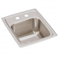 LR13162 LUSTERTONE 13  x 16  x 7-5/8 SINGLE BOWL DROP-IN SINK