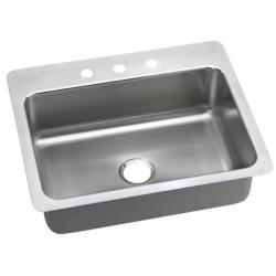LSR-2722 LUSTERTONE 27 X 22 X 8 SINGLE BOWL DUAL MOUNT SINK 3-HOLE