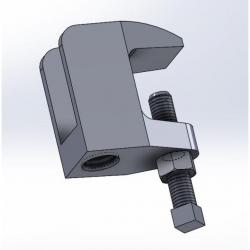 61G0050 Wide Mouth Beam Clamp Electro-Galvanized Import 1/2