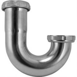 J-BEND 1-1/2 17GA SATIN SINK TRAP