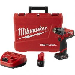 "2504-22 M12 FUEL 1/2"" HAMMER DRILL KIT WITH 2 BATTERIES"