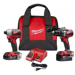 2893-22CX M18 Brushless Hammer Drill/Impact Combo Kit 2.0,4.0