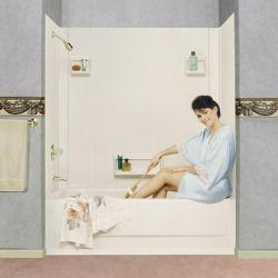 500 WHT 5-PIECE TUB WALL MUSTEE