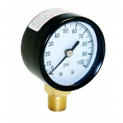 PRESSURE GAUGE 1/4IN 100# NO LEAD