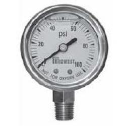 PRESSURE GAUGE LIQUID 100# 1/4IN NL
