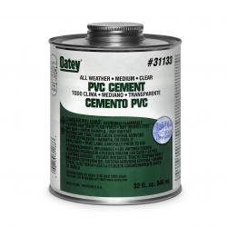 OA31133 - CEMENT PVC 32OZ ALL WEATHER CLEAR