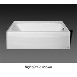 BA-R-41 60 X 30 GELCOAT TUB ONLY LH DRAIN BISCUIT