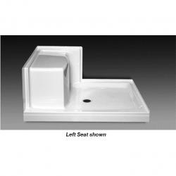 "SB-4836RS WHT 48""X36"" SHOWER BASE WITH RIGHT CORNER SEAT"