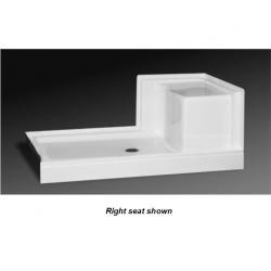 SB-6034LS WHT 60X34 SHOWER BASE W/LEFT SEAT