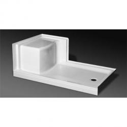 SB-6036R-LS BSC SHOWER BASE LEFT SEAT RH DRAIN  BISCUIT