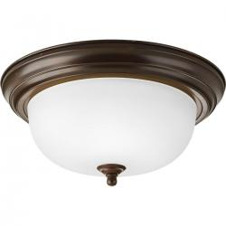 "P3925-20ET 13"" ROUND CLOSE TO CEILING-ANTIQUE BRONZE"