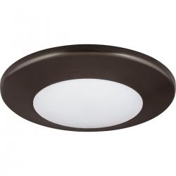 "P8022-20/30K9-AC1-L10 7"" ROUND FLUSH MOUNT-ANTIQUE BRONZE"