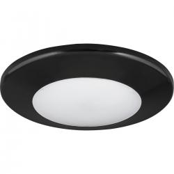 "P8022-31/30K9-AC1-L10 7"" ROUND FLUSH MOUNT-BLACK"