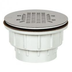 SHOWER DRAIN 2 PVC SNAP IN SS TOP