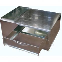 "FILTER BOX 32X28X15.5"" SB GRAY METAL"