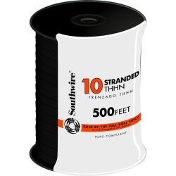 WIRE 10 THHN STRANDED BLACK 500FT REEL
