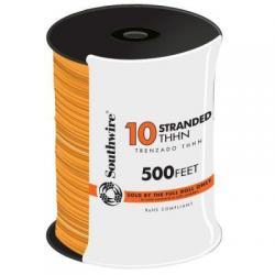 WIRE 10 THHN STRANDED ORANGE 500FT REEL