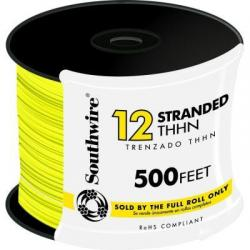 WIRE 12 THHN STRD YELLOW 500FT REEL