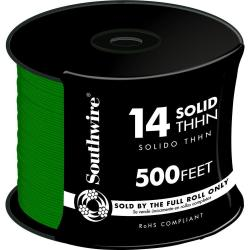 WIRE 14 THHN SOLID GR 500FT REEL
