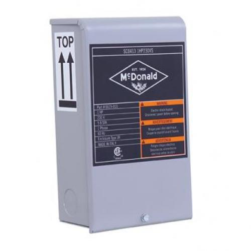 CONTROL BOX 1/2HP 230V
