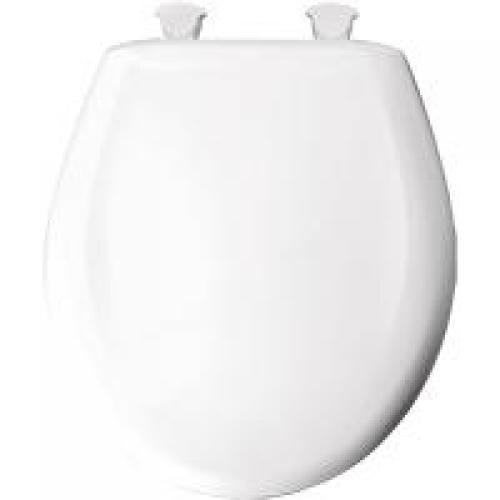 Toilet Seat Wht Round Hvy Weight Mid State Supply