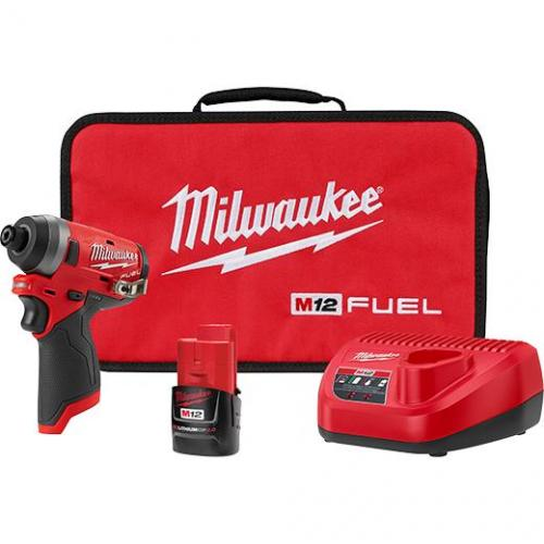"""2553-21 M12 FUEL 1/4"""" HEX IMPACT DRIVER KIT WITH 1 BATTERY"""