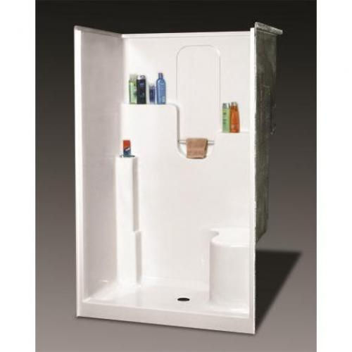 Sh 4836rs Wht Gel Shower Mid State Supply