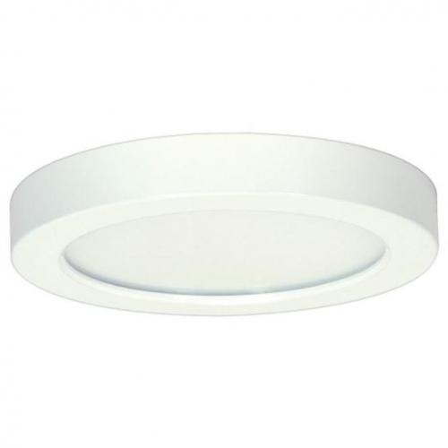 "S29331 13.5 watt; 7"" Flush Mount LED Fixture; 3000K; Round Shape; White Finish; 120 volts"